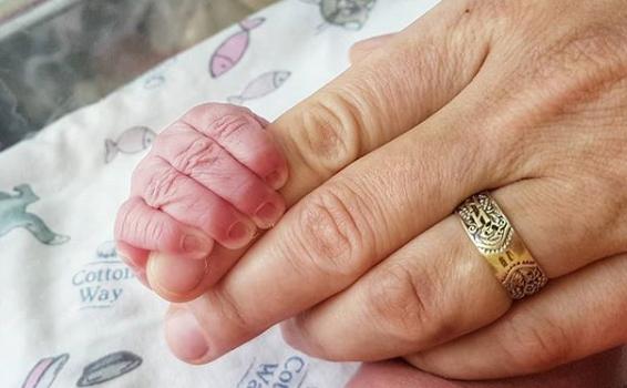 Это первый снимок малыша, которым поделилась Маша Круглыхина Фото: «Инстаграм»