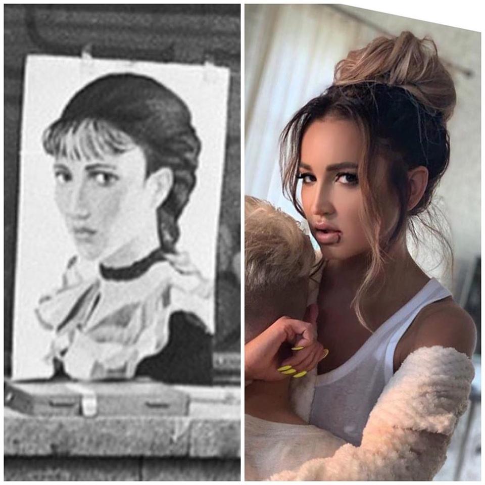 Портрет незнакомки (нафото слева) был сделан, когда Ольга Бузова ещё неродилась Фото: «Инстаграм»
