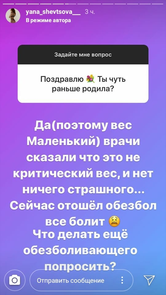 Шевцова родила раньше срока Фото: «Инстаграм»